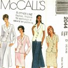 McCall's 2044 Pattern Uncut 12 14 16 Lined Asymmetrical Jacket Flared or Straight Skirt
