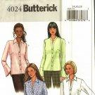Butterick 4024 Pattern Uncut 14 16 18 Button Front Shirt Long Sleeves Flounce Ruffle