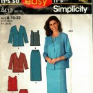Simlicity 4413 Pattern Uncut 10 12 14 16 18 20 22 Loose Jacket Top Side Slit Skirt