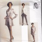 Vogue 1621 Pattern 10 Uncut Byron Lars Twist-Look Drape Front Dress Top Pants