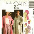 McCall's 4218 Pattern L XL XXL Uncut Robe Nightgown Pajamas Sleepwear