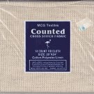 MCG Textiles Fiddler's Cloth 20x24 inches 14 Count Cotton Poly Linen for Cross Stitch