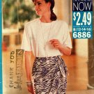 Butterick See & Sew 6886 Pattern uncut 12 14 16 Loose Fit Top Wrap Skirt