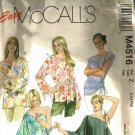 McCall's M4516 Pattern uncut L XL Pullover Boho Tops One Shoulder Option