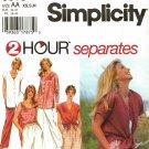 Simplicity 9518 Pattern uncut XS S M 2 Hour Separates Pants Button Front Top Pullover Top