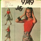 Simplicity 9749 Pattern uncut Medium 14 16 Jiffy Front Wrap Skirt