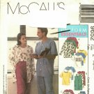 McCall's 9652 Pattern uncut XL XXL Scrubs Top Pants Cardigan Vest Men Women