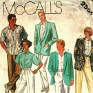 McCall's 2551 Pattern uncut 40 Jacket Shirt Pants Men Women Willi Smith