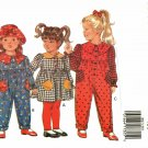 Butterick 3047 Pattern uncut Toddlers Girls 1 2 3 Dress Jumpsuit Hat Leggings