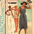 McCall's 5499 Pattern uncut Medium 14 16 Jumpsuit in 3 Lengths with Shoulder Ties Hat