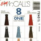 McCall's 7240 Pattern uncut 10 12 14 Jumpers and Jumpsuits