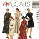 McCall's 7888 Pattern uncut 12 14 16 Fashion Basics Button Front Dress