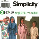 Simplicity 8090 Pattern uncut Children 5 6 6X Boys Girls 3 Hour Pajama or Robe