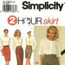 Simplicity 8141 Pattern uncut 10 12 14 16 Ankle Knee or Mini Length 2 Hour Skirt