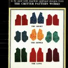 Critter Pattern Works 9301 Uncut 8 10 12 14 16 18 20 22 24 Expanded Variable Vest Plain, to decorate