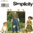 Simplicity 9466 Pattern uncut Toddlers 1/2 1 2 Jumper Romper Hen Chick Pockets Chickens