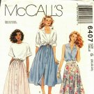 McCall's 6407 size 20 22 24 may be missing pieces, 50 cents plus shipping