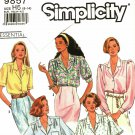 Simplicity 9857 Pattern size 6 8 10 12 14 Button Front Blouse