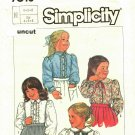 Simplicity 7013 Pattern uncut Toddlers Girls 4 5 6 Blouse with Ruffles, Peter Pan Collar