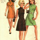 Simplicity 8588 Pattern size 14 Used Mock Turtleneck Short Dress Mod