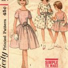 Simplicity 4366 Pattern size 4 Girls Toddlers Party Dress Gathered Skirt Button Back
