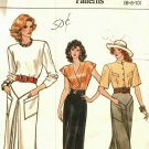 Vogue 9814 Pattern 6 8 10 Straight Skirt Shaped Hem Yokes 1980s