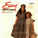 McCall's Stitch N Save 7466 Pattern uncut Toddlers Girls 3 4 5 6 Dress Easy to Sew