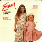 McCall's Stitch N Save 8019 Pattern uncut Toddlers Girls 3 4 5 6 Dress Easy to Sew