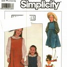 Simplicity 9321 Pattern uncut Girls 7 8 10 Jumpers Blouse Peter Pan Collar