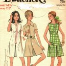 Butterick 5800 Pattern 14-1/2 Dress Pantdress Cut Complete 1970s