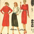 McCall's 6812 Pattern uncut 14 Back Button Dress Soft Pleats Adrian Cartmell