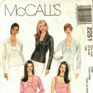 McCall's 2251 Pattern uncut XS 4 6 Tank Top Shrug for Stretch Knits