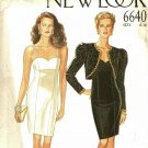 Simplicity New Look 6640 Pattern uncut 6 8 10 12 14 16 Wiggle Dress Lined Bolero