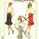 Simplicity 8306 Pattern uncut 10 12 14 Skirts with Trumpet Shape or Lower Flounce Vintage 1980s