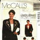 McCall's 7329 Pattern uncut 14 Unlined Jacket Detachable Decorated Collar Nancy Zieman