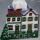 Christmas Village House Noel Holiday Decor Plastic Canvas Kit Tissue Cover Hobby Kraft 4559