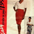 McCall's Stitch N Save Pattern 7042 Uncut FF 14 16 18 20 Wrap Skirt V Neck Top
