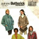 Butterick Pattern BP390 Uncut FF L XL 16 18 20 22 Jacket Poncho Easy to Sew