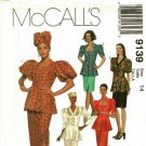 McCall's 9139 Pattern 14 uncut Peplum Tops Puffy Sleeves Skirts Hat Headwrap African Influence