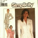 Simplicity 8433 Pattern uncut 14 Funnel Neck Lined Jacket Skirt