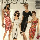 McCall's 6602 Pattern uncut 4 6 8 Semi Fitted Dress with Front Overlay Faux Wrap