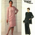 Vogue 2204 Pattern Uncut Size 14W 16W 18W Dress with Drape Below Knee or Formal Length