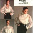 Vogue 2001 Pattern Uncut Size 12 Long Sleeve Blouse Wrap Pleats or Ruffles Camisole Ralph Lauren