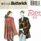 Butterick B5144 Pattern uncut 16 18 20 22 24 Loose Fit Jacket Shaped Front Flared Back Retro '48