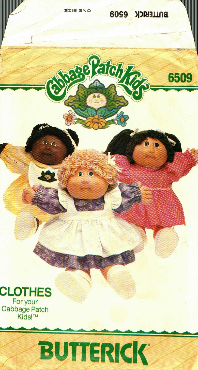Butterick 6509 CPK Cabbage Patch Kids Clothes Pattern may be missing pieces, 50 cents plus shipping