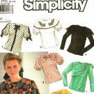Simplicity 9923 Pattern uncut 6 8 10 12 14 Blouse with Collar Trim Variations