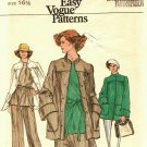 Vogue 9452 Pattern Uncut Size 16-1/2 Half Size Jacket Overblouse Skirt Pants