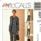 McCall's 2027 Pattern Uncut 14 16 18 Cardigan Top Pants Skirt Separates