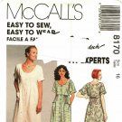 McCall's 8170 Pattern uncut 16 Loose Fit Dress Empire Short Dolman Sleeves Palmer Pletsch