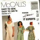McCall's 8170 Pattern uncut 24 Loose Fit Dress Empire Short Dolman Sleeves Palmer Pletsch